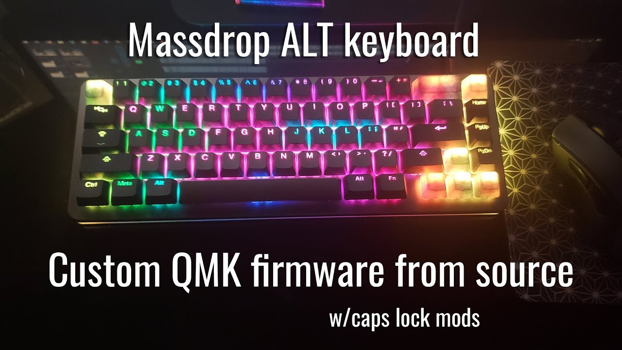 Building custom QMK firmware for the massdrop ALT keyboard from source code