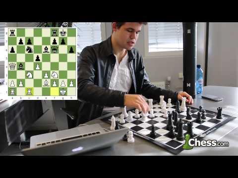 Magnus Carlsen Reviews His Game vs Aronian