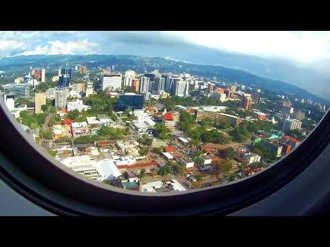 Iberia 6341 Landing in Guatemala City, La Auorora Airport