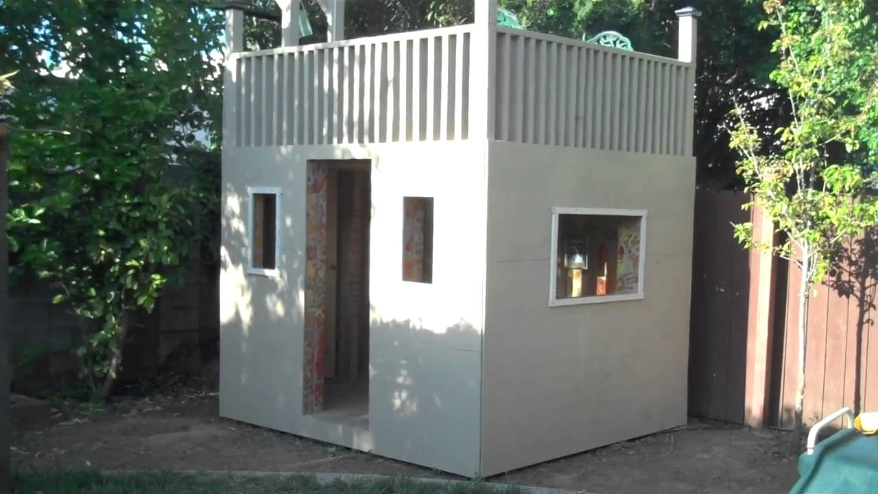 Our clubhouse with an upstairs balcony youtube for Cool ideas for building a house