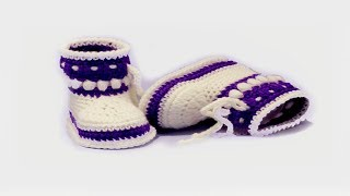 Video DIY crochet baby booties  //Vasilisa download MP3, 3GP, MP4, WEBM, AVI, FLV September 2017