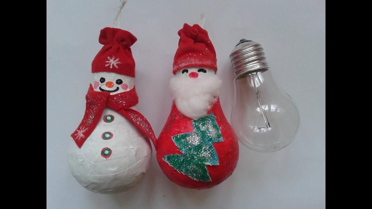 Ёлочная игрушка своими руками из лампочки фото 692