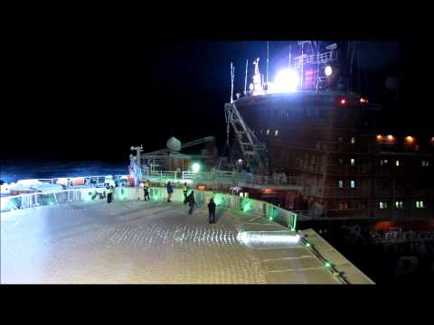 Russian nuclear icebreaker Rossiya picking up the ice pilot