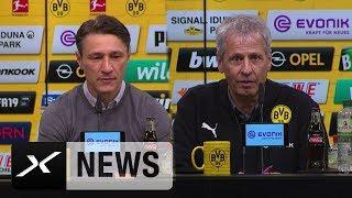Niko Kovac und Lucien Favre zum deutschen Klassiker | Borussia Dortmund - FC Bayern 3:2 | SPOX