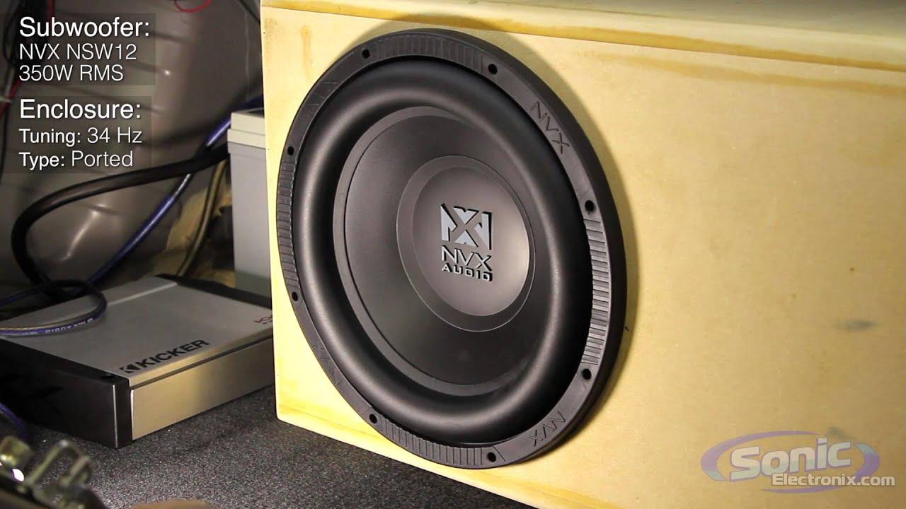 NVX NSW Subwoofer Demo | NSW124 Bass Test
