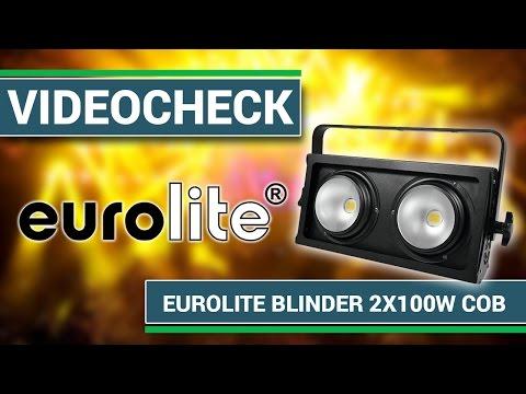 Videocheck -  EUROLITE Audience Blinder 2x100W LED COB 3200K