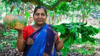 Vegetable Recipe Pumpkin and Basella Malabar Spinach Village Cooking Recipe Village Food Life