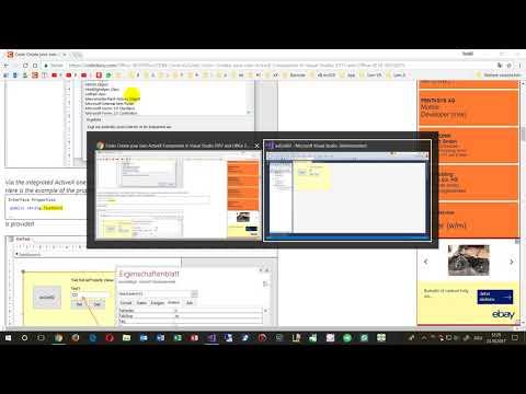 Create ActiveX Control with C# in Visual Studio 2017