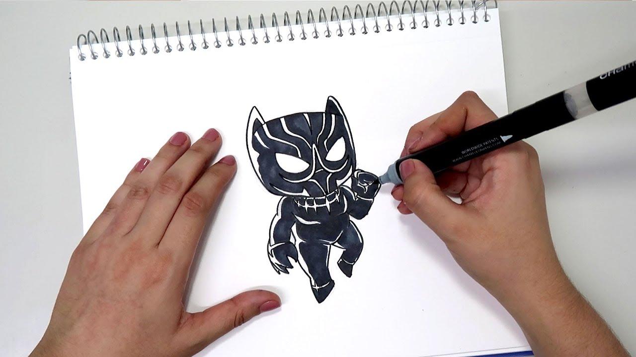 como desenhar o pantera negra chibi passo a passo youtube
