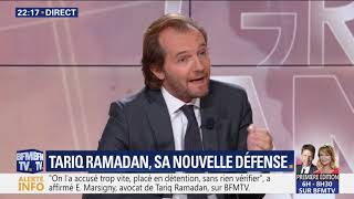 """l'avocat de tariq ramadan , de marsigny :""""les rapports consentis prouvent qu'il n'y a pa eu viol"""""""