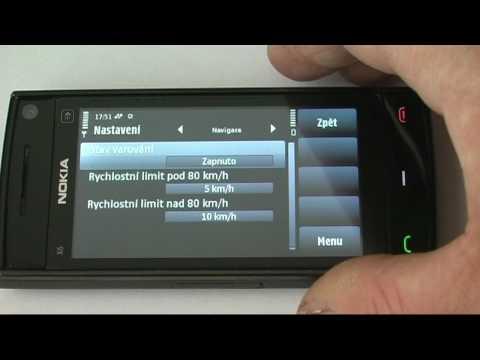 NOKIA X6 16GB - uživatelský test navigace 1.část