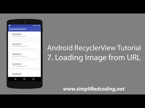 7  Android RecyclerView Tutorial - Loading Images from URL