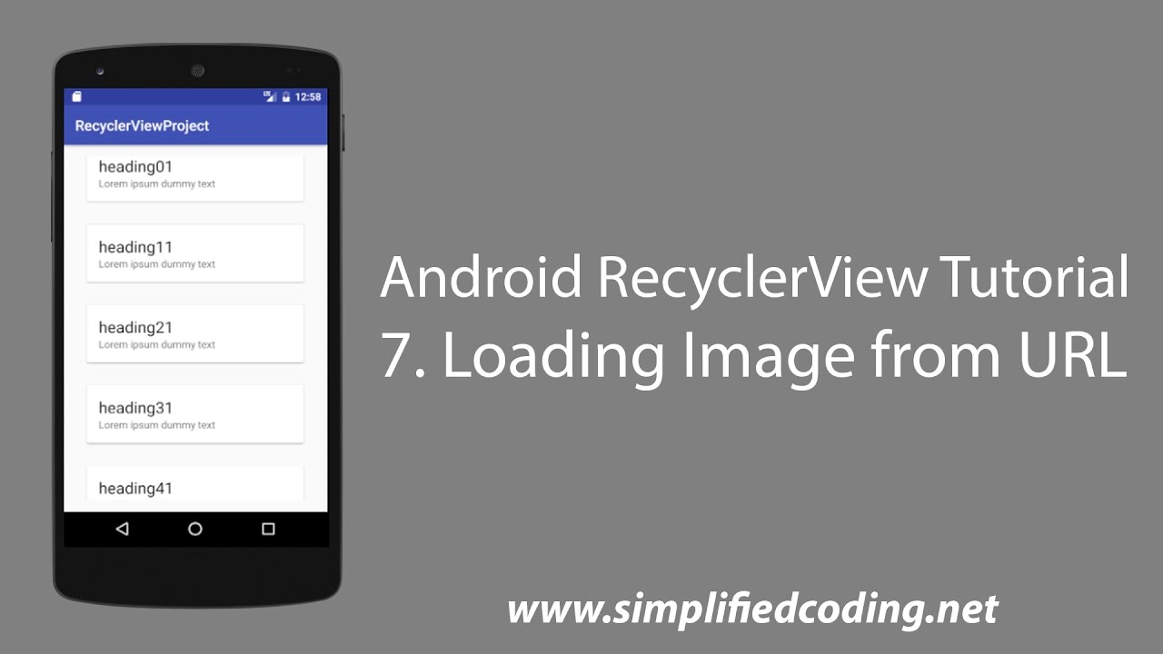 image slider android from server