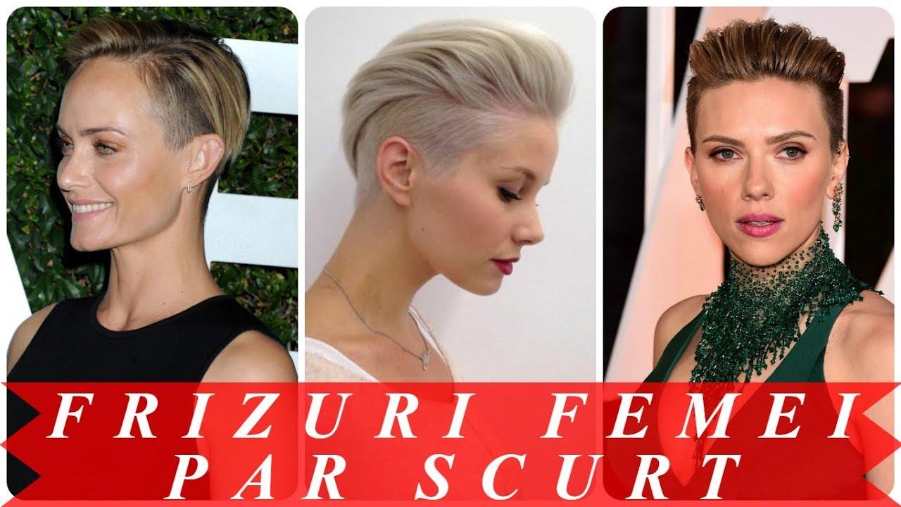 Modele De Tunsori Par Scurt 2018 Femei Youtube