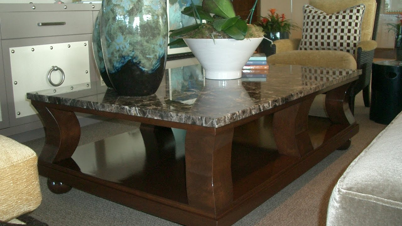 Entrancing Granite Top Coffee Table Design Ideas