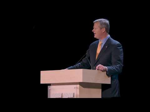 Massachusetts Governor Charlie Baker at EF Education First Groundbreaking