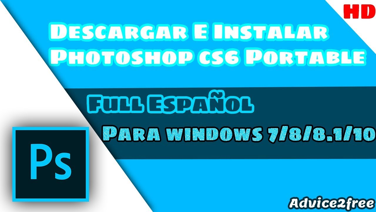 descargar photoshop cs6 gratis windows xp