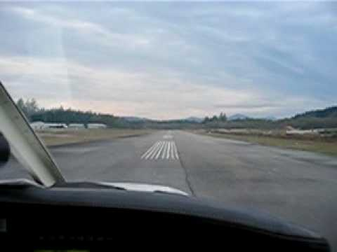 Taking Off from Sechelt-Gibsons Airport (CAP3), British Columbia, Canada.