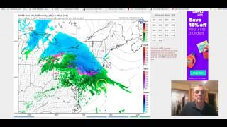 Major storm developing. Snow sleet freezing rain NYC Long Island Hudson Valley Connecticut 2/11/2017
