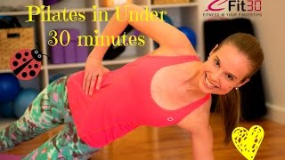 Pilates exercise routine in Under 30 minutes with Kelly :)