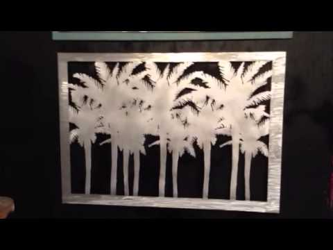 Palm Tree Metal Wall Art palm tree tropical metal wall art decor - youtube