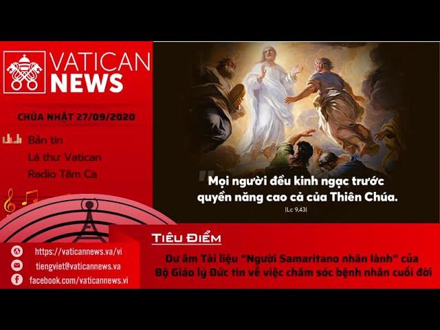Radio: Vatican News Tiếng Việt Chúa Nhật 27.09.2020