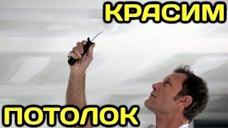 видео Как покрасить потолок водоэмульсионной краской без разводов