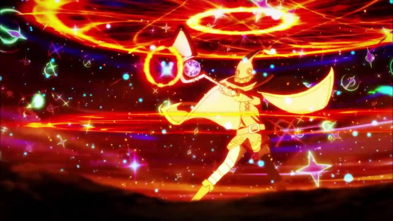 Megumin lancia Explosion, la sua devastante magia esplosiva.