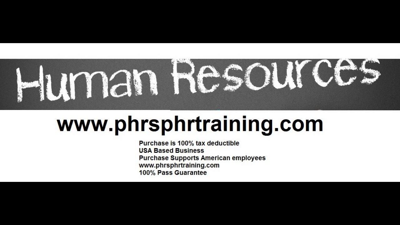 Phr Sphr Exam Prep Human Resources Certification Sphr Phr Exam