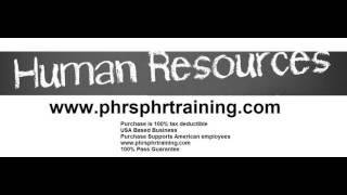 PHR SPHR Exam Prep; Human Resources Certification sphr phr Exam