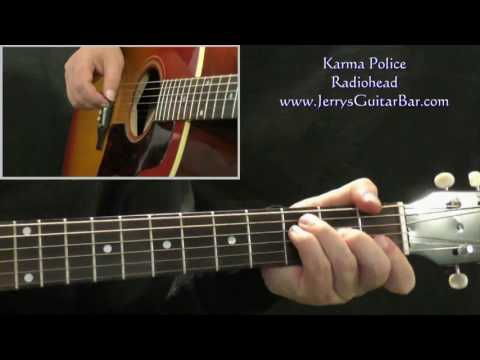 How To Play Radiohead Karma Police (intro Only)