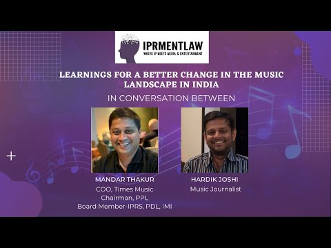 LEARNINGS FOR A BETTER CHANGE IN THE MUSIC LANDSCAPE IN INDIA- MANDAR THAKUR
