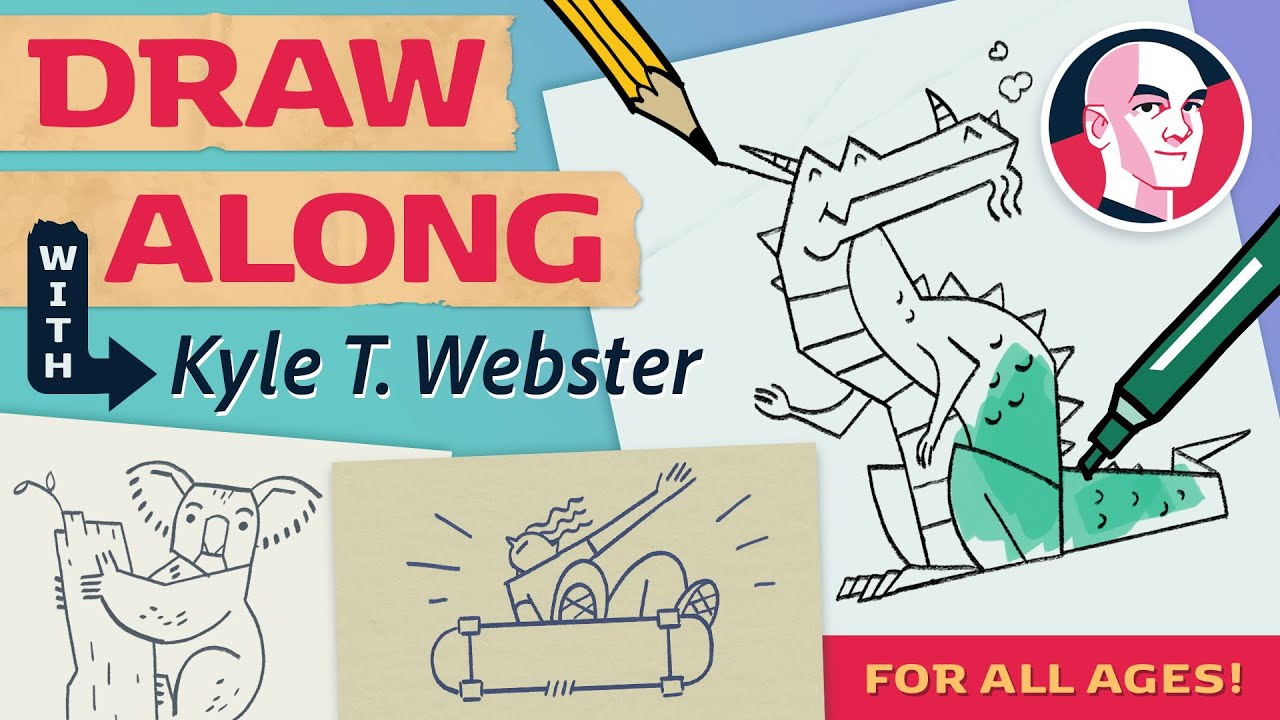 Draw Along with Kyle T. Webster - Artist Painting!