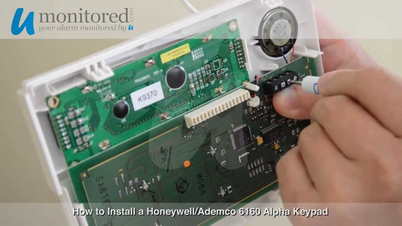 install a honeywell 6160 keypad youtube rh youtube com Instruction Manual Ademco Keypad 6128 Manual