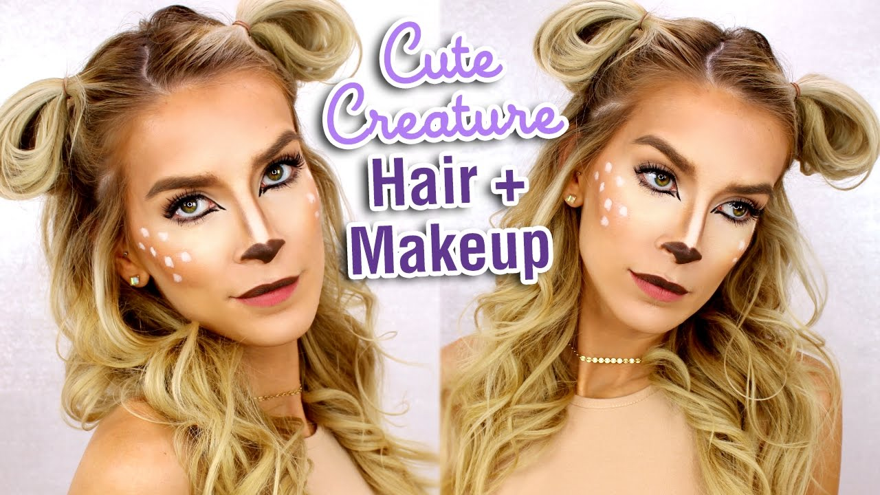 Last minute halloween hair makeup tutorial deer costume makeup last minute halloween hair makeup tutorial deer costume makeup youtube baditri Gallery
