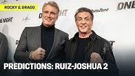 Rocky (Sylvester Stallone) & Ivan Drago (Dolph Lundgren) Predict Ruiz-Joshua 2
