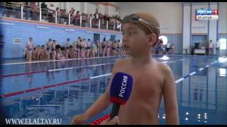 Соревнуются начинающие пловцы