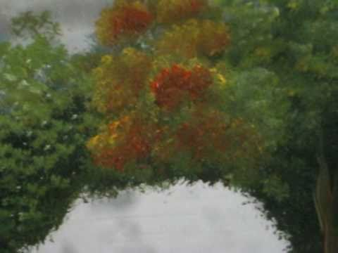How to Paint Orange Trees With Acrylic Part 4