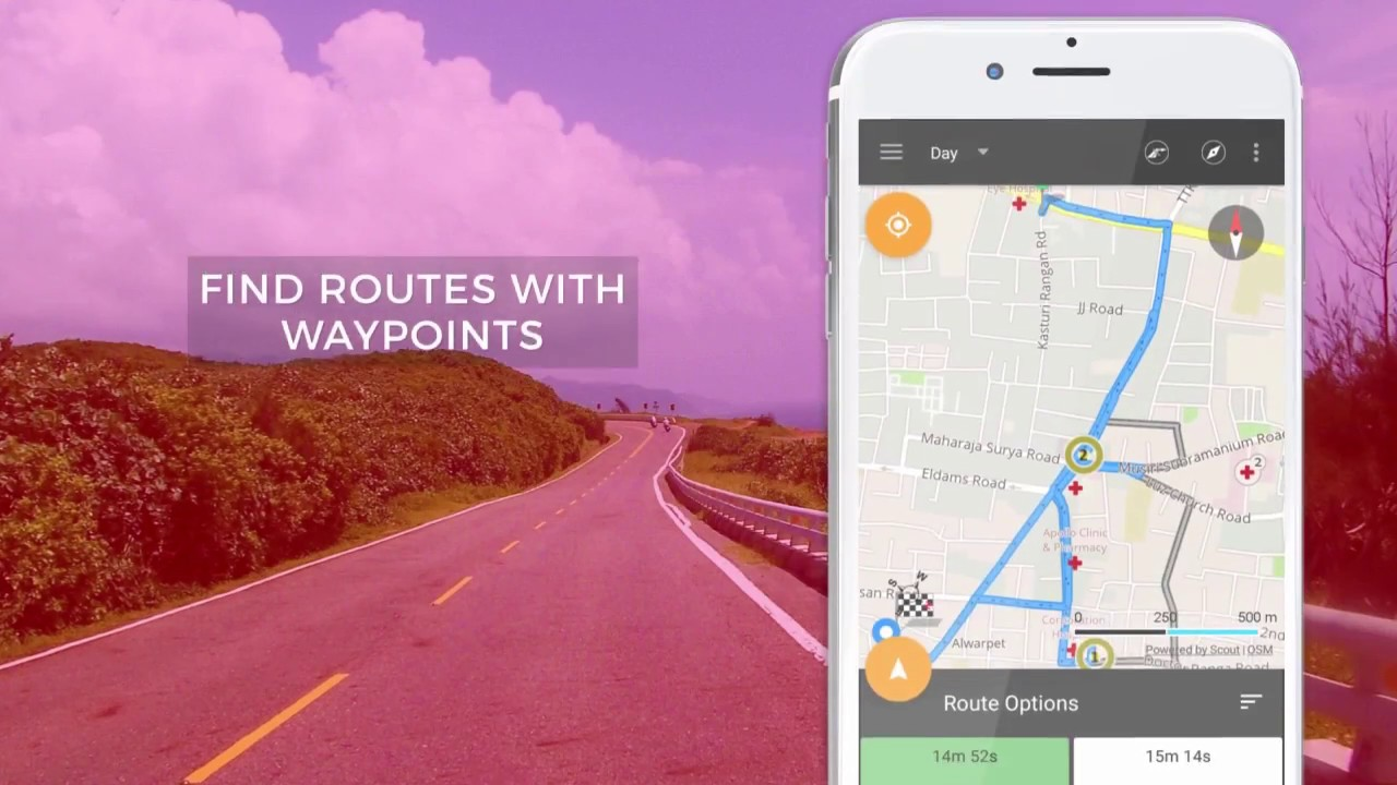 gps driving route by virtualmaze - offline maps, voice navigation