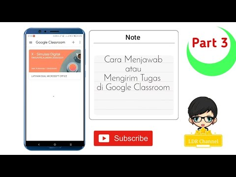 Cara Menjawab Dan Mengirimkan Tugas Di Google Classroom Youtube