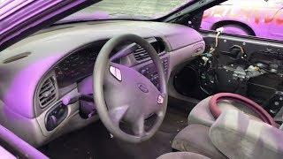 Сюрприз!! Вытащили стекла и покрасили машину баллончиком Фиолетовым в Саллоне