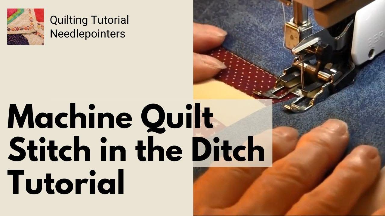 Machine Quilting - Stitch in the Ditch - YouTube : machine quilting stitches - Adamdwight.com