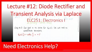 ELC251-12: Diode Rectifier and Transient Analysis via Laplace (Ch04, Lect12)