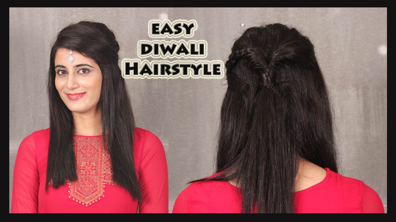 Hairstyles English: FOMO : Easy Diwali Hairstyle (English)
