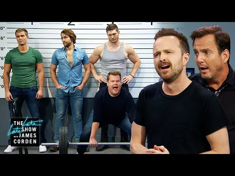 James Insists He's The Sexy Suspect W/ Aaron Paul & Will Arnett