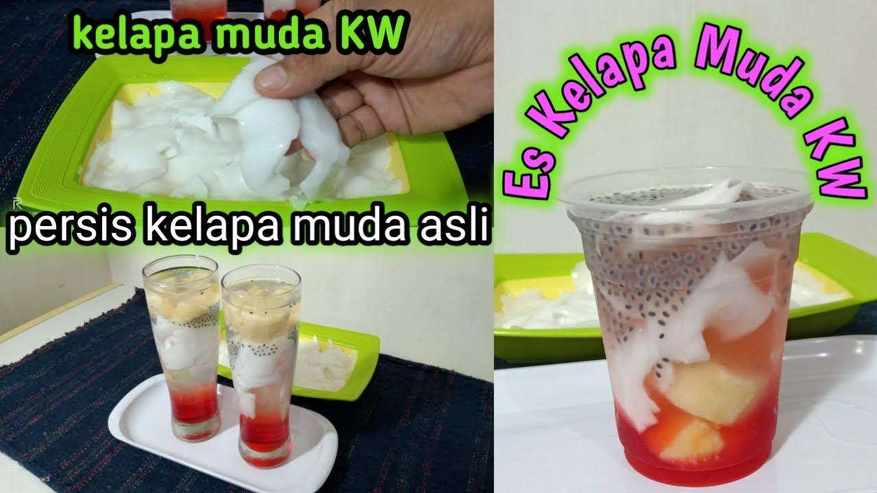 Minuman Takjil Untuk Buka Puasa Es Kelapa Muda Kw Rasa Mirip Kelapa Muda Asli Buat Ide Jualan Youtube