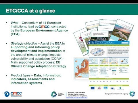 180227 - Informing and supporting climate policy: the European Topic Centre ETC/CCA