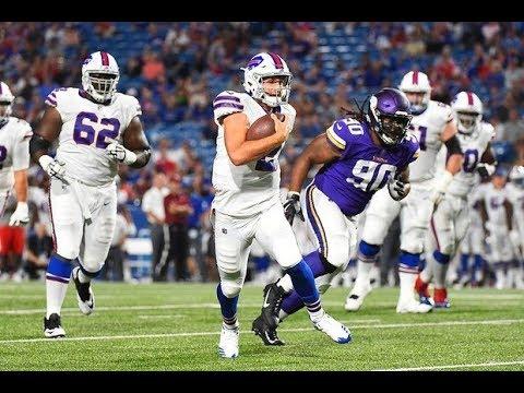 Nate Peterman NFL Debut Highlights Preseason Week 1 Bills vs. Vikings