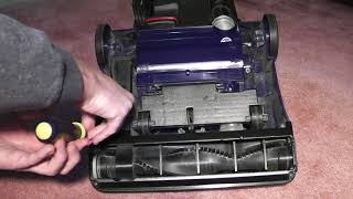 How to replace the belt on a Bissell Powerforce vacuum