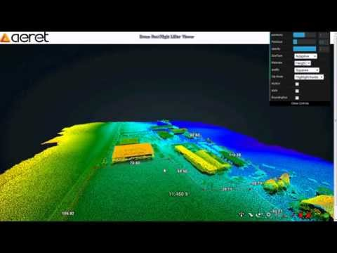 Drone Post Flight: View LiDAR-data in Browser